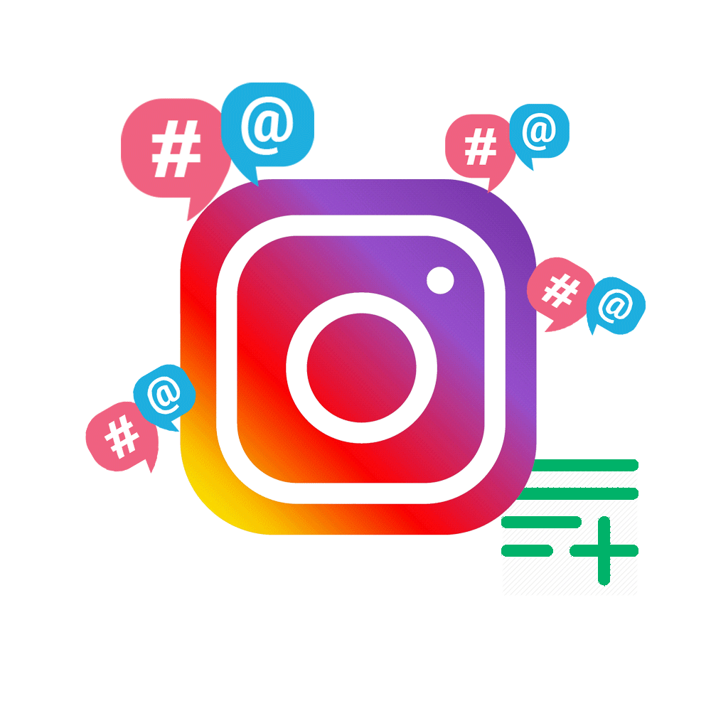 instagram logo mention and hashtag | AdsMember